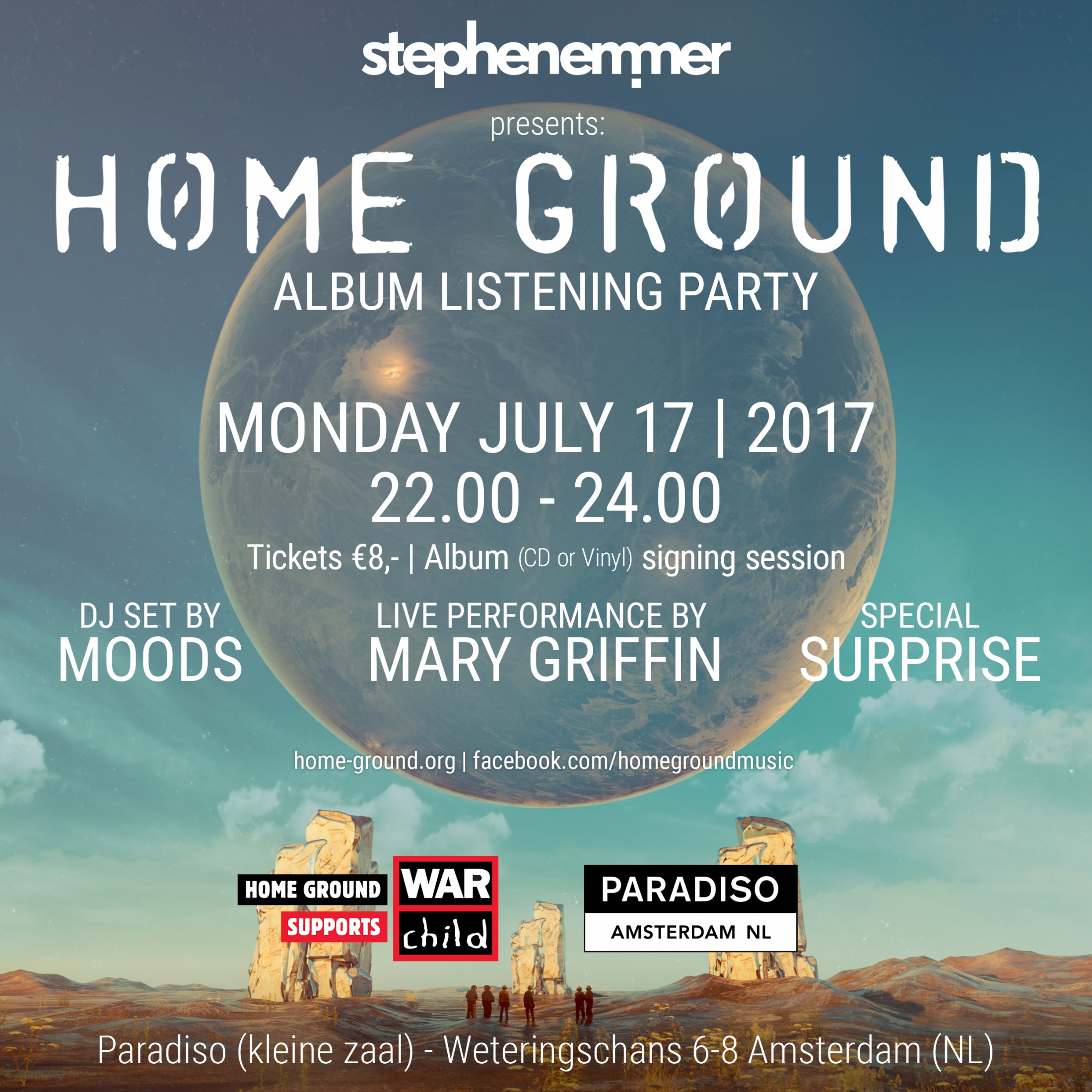 Stephen Emmer presents Home Ground in Amsterdam